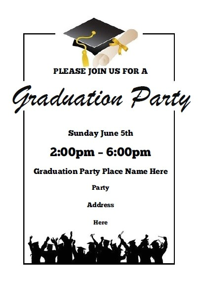 Free Templates for Graduation Party Invites Graduation Party Invitations Free Printable