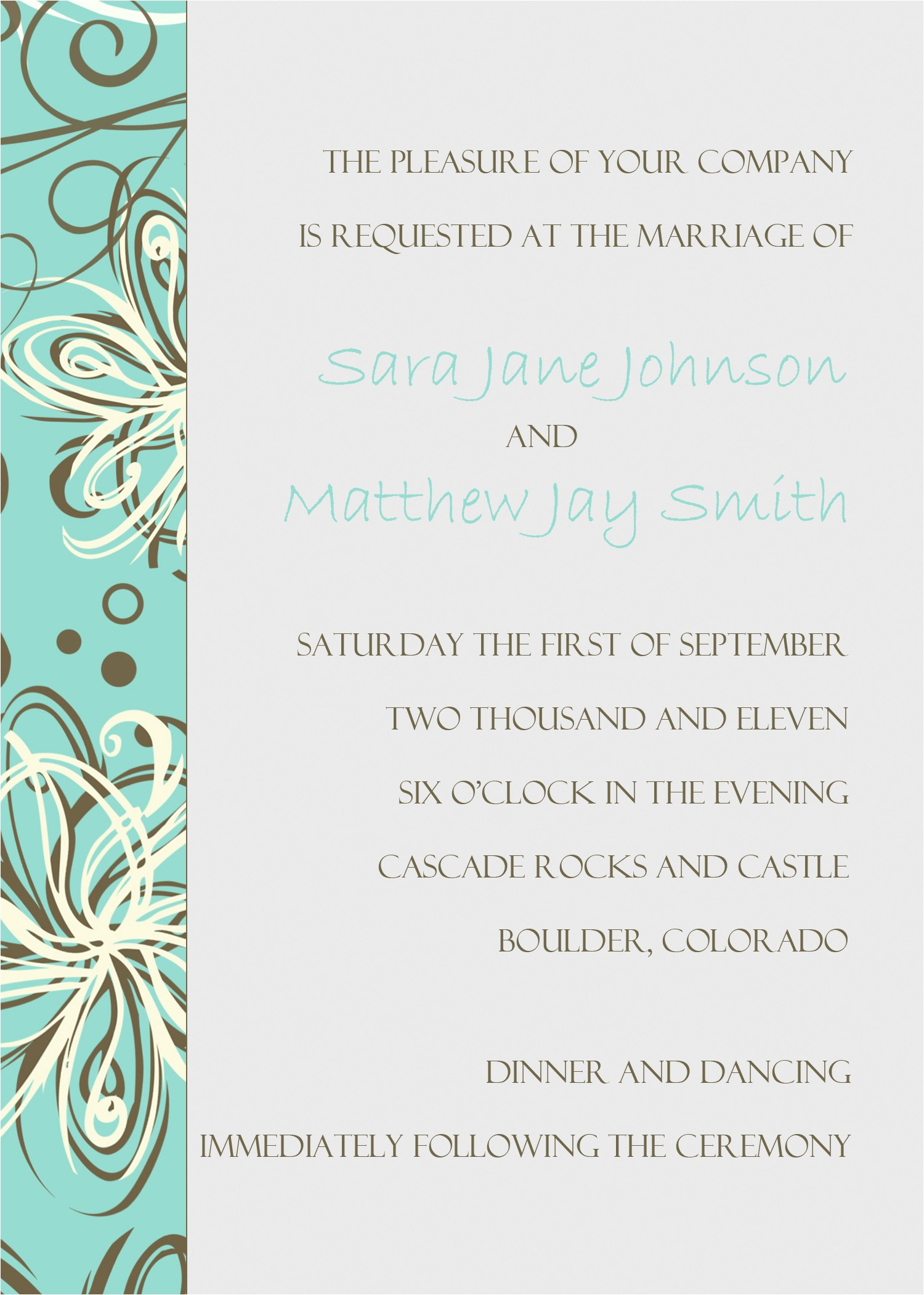 wedding invitation outlook template