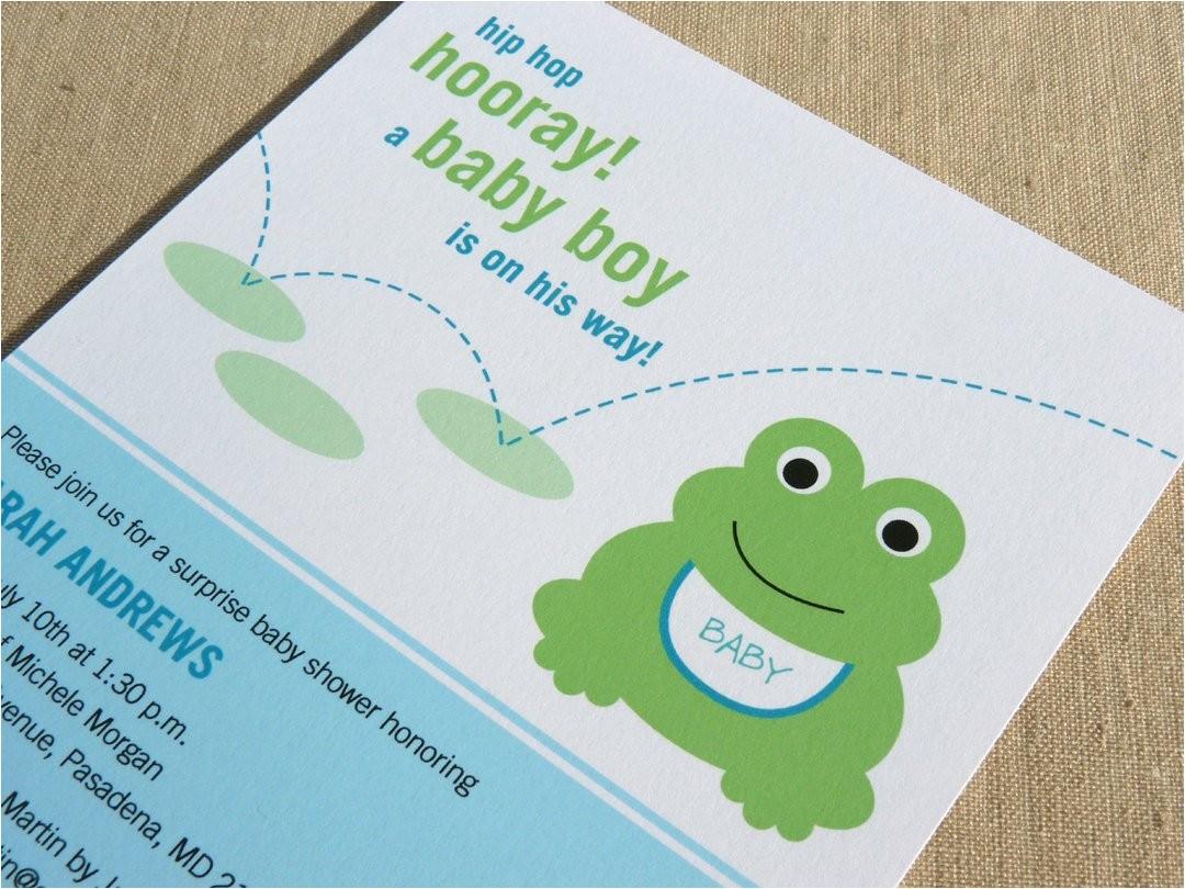 Frog Baby Shower Invites Frog Baby Shower Invitation Printable Baby Shower Invitation