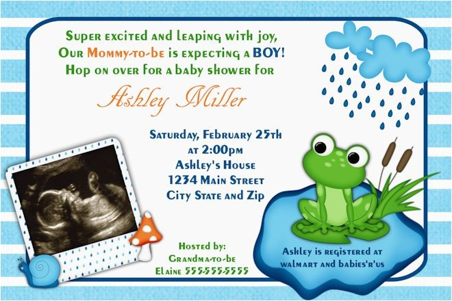 frog baby shower theme ideas