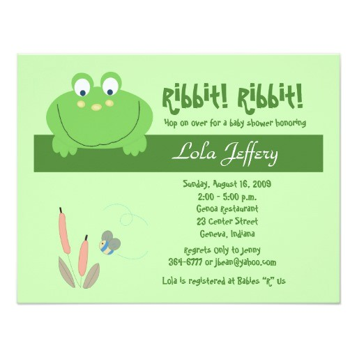 froggyville cute frog baby shower invitation 161200304208660661