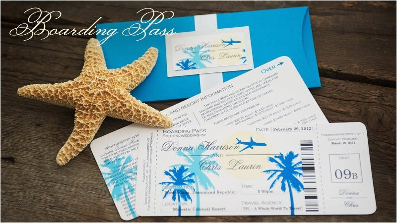 boarding pass destination wedding