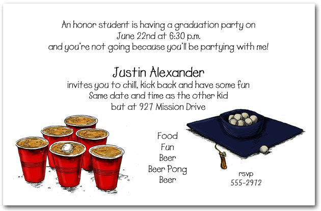 beer pong and grad hat