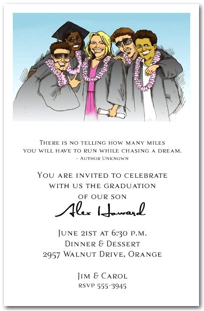 graduation party invitation wording funny