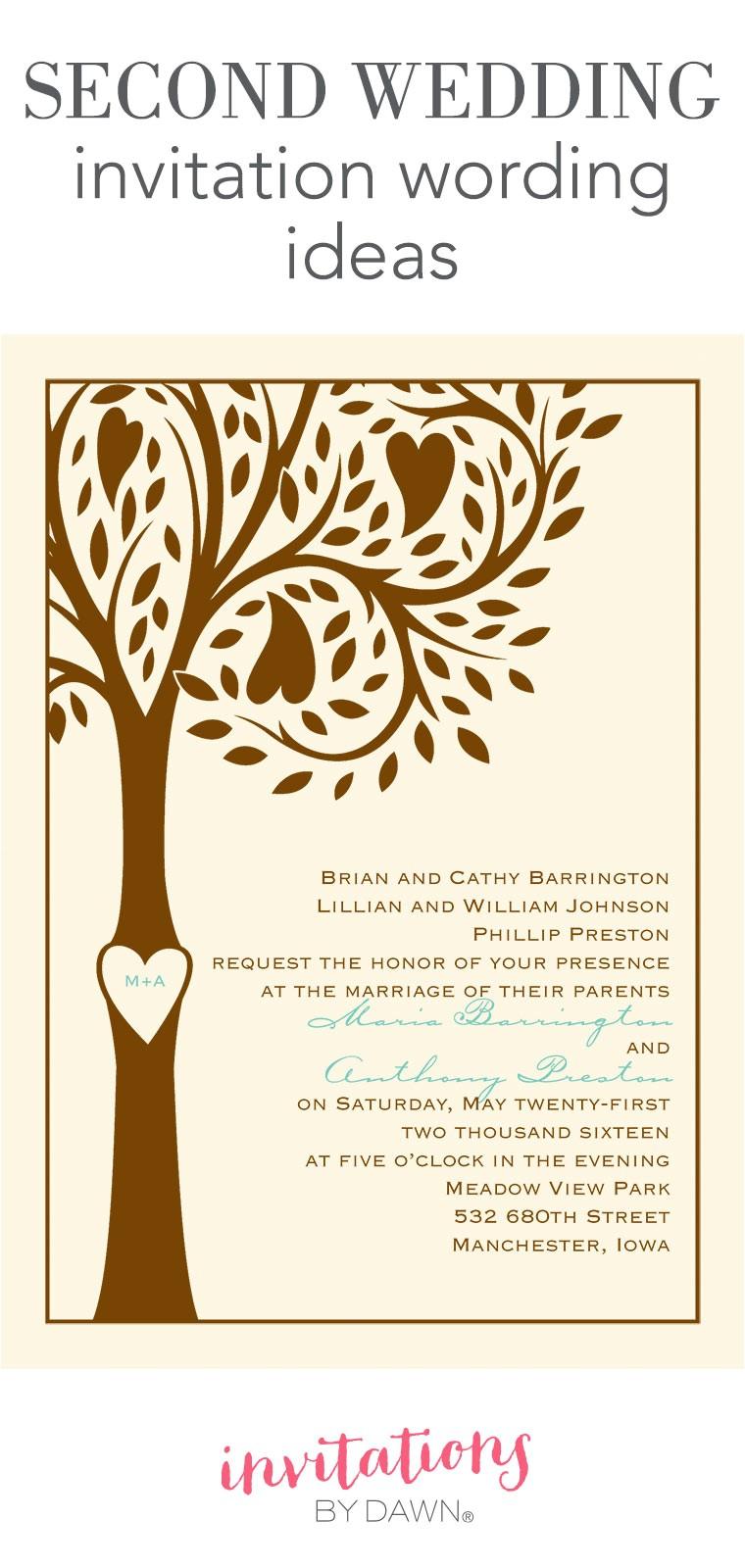 second wedding invitation wording