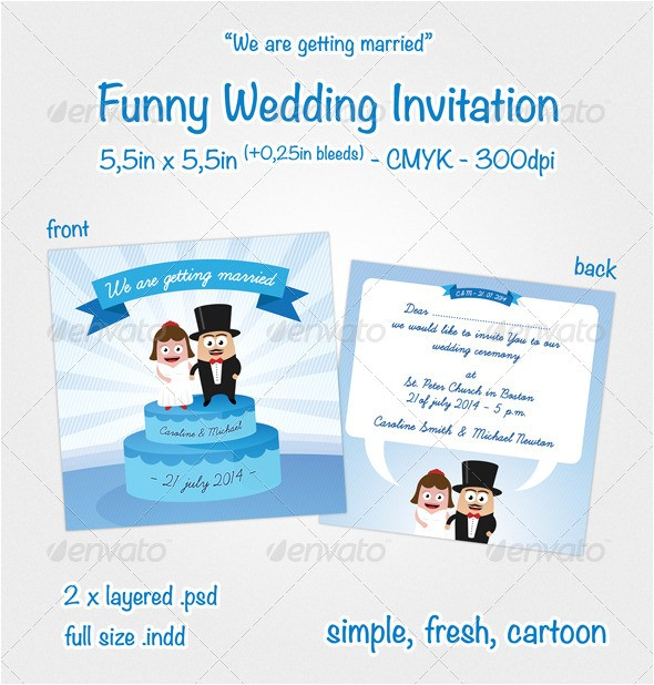 sample funny wedding invitation