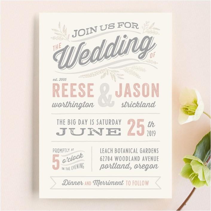 wedding invitation wording that wont make you barf