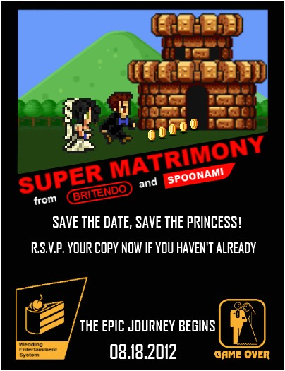11 great video game wedding invitations