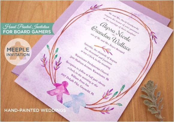 board game themed wedding invitation