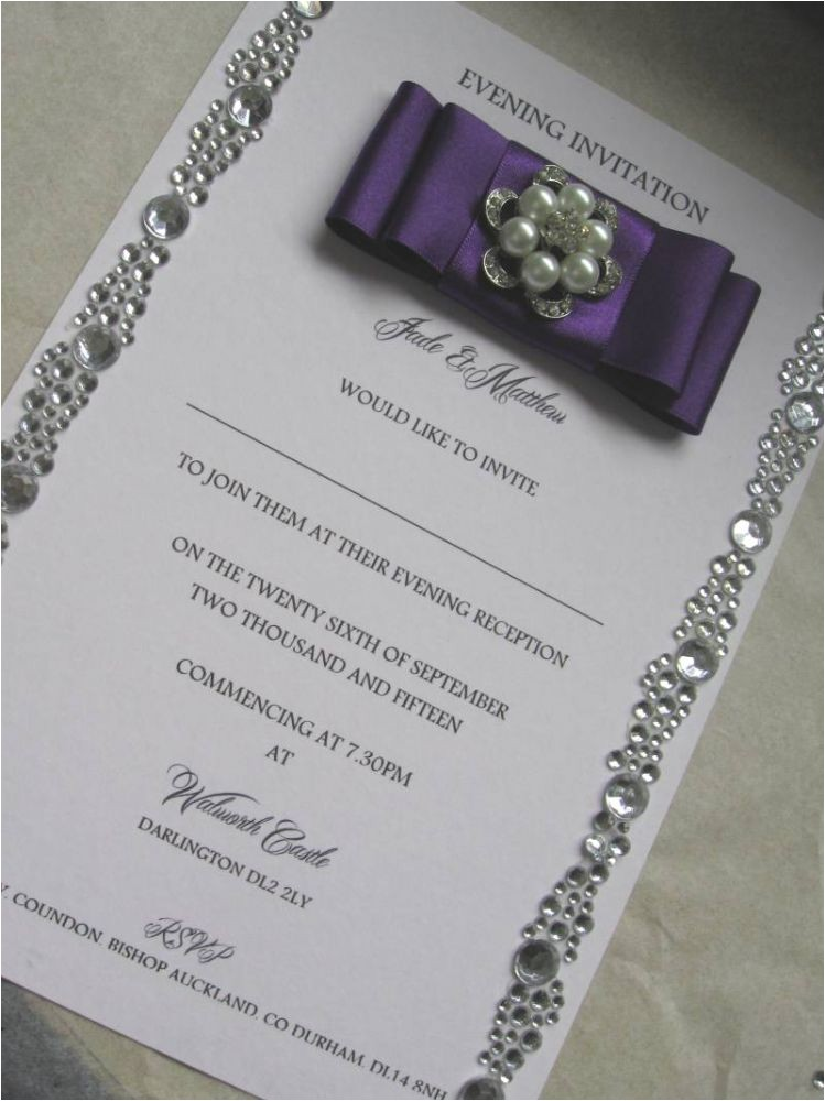evening wedding invitation gem border strips withwithout box 8582 p