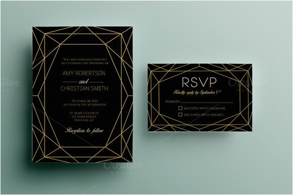 531009 gem wedding invitation template