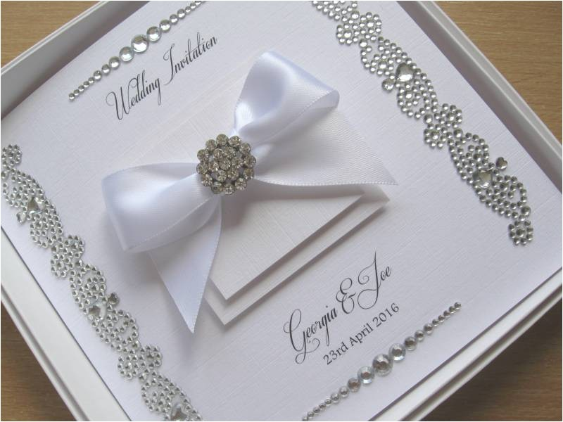 luxury gem strip wedding invitations withwithout box 8749 p