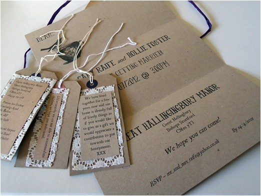 handmade rustic wedding invitation ideas