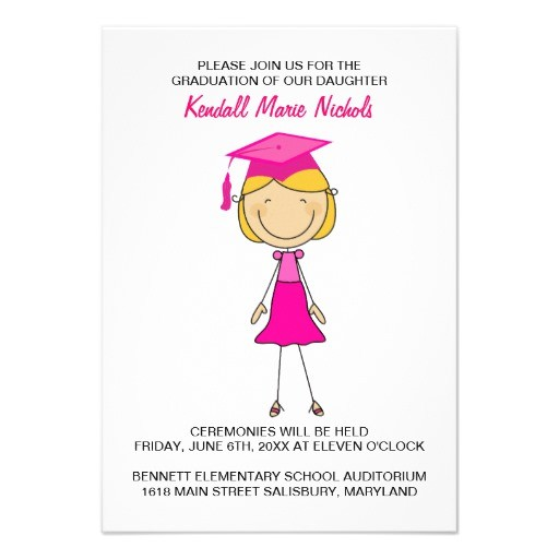 girly stick figure graduation invitations 161963049264523746
