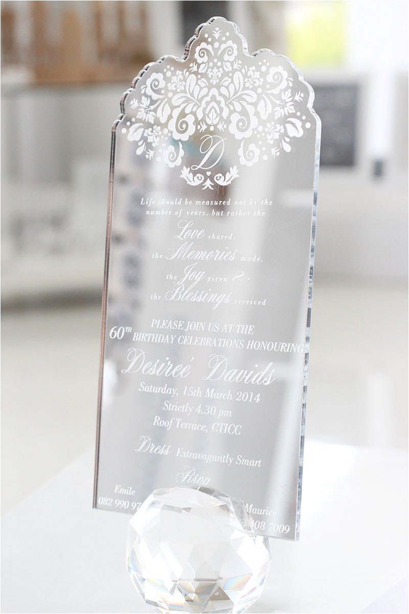 silver mirror invitation desiree
