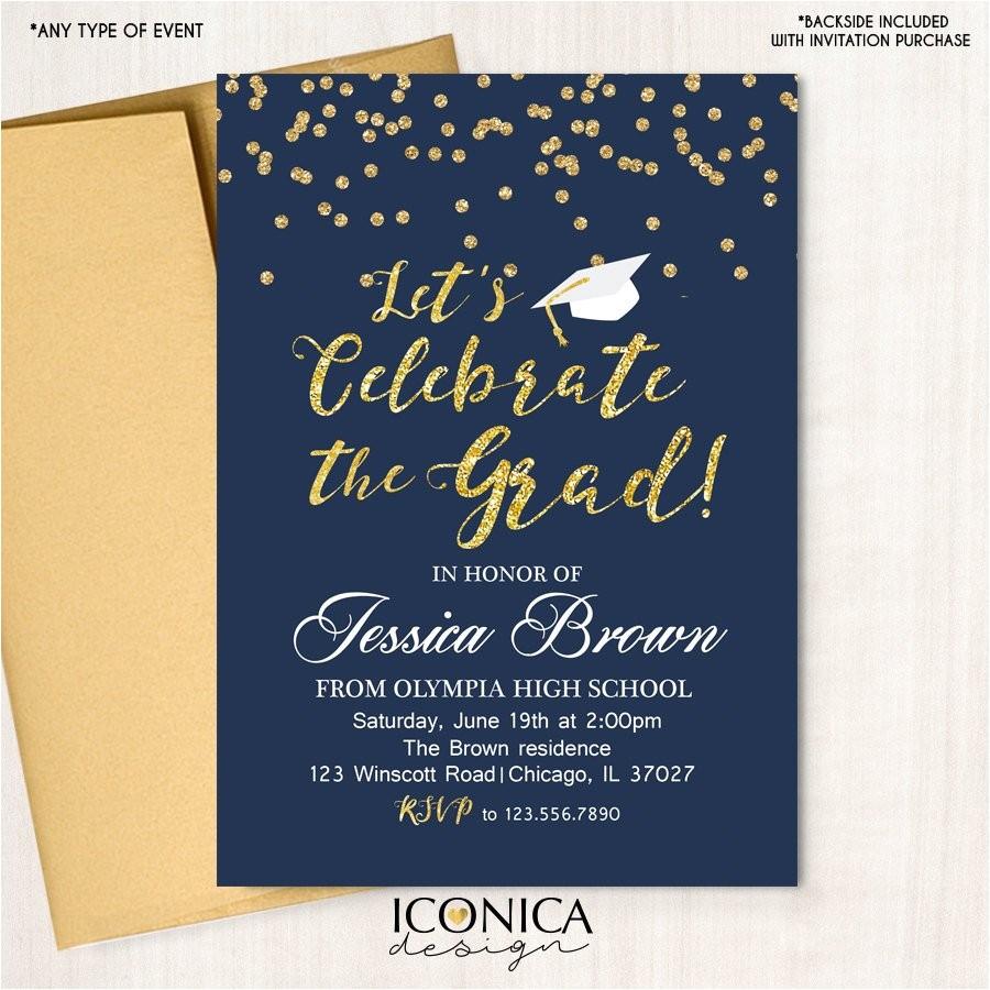graduation party invitation grad party