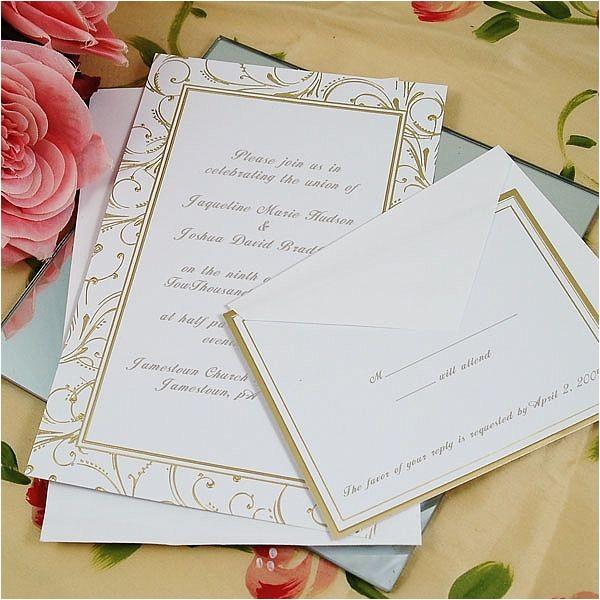 gold swirl invitation kit p 3368