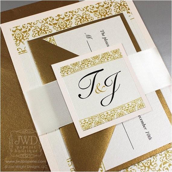blush wedding invitation elegant gold