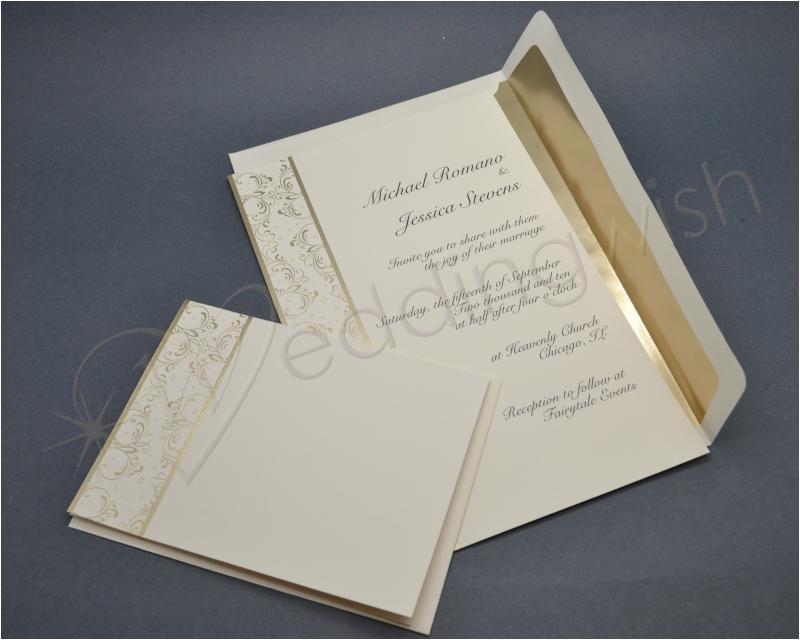wilton royal lining gold wedding invitation kits x 25 pack id 1024