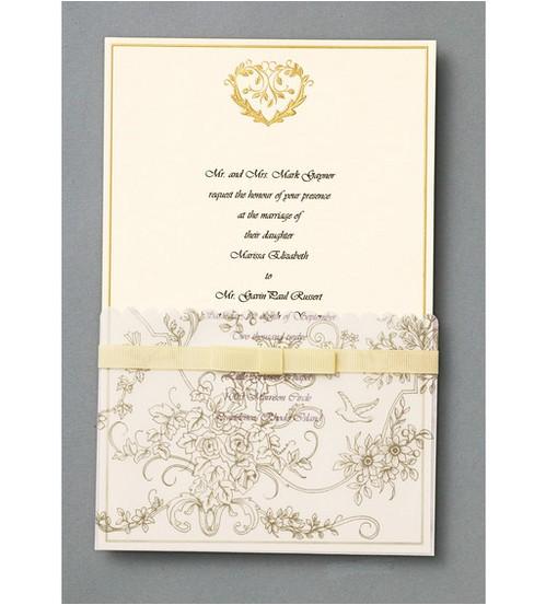 Gold Wedding Invitation Kits Wilton 25 Ct Gold Wedding toile Invitation Kit at Joann Com