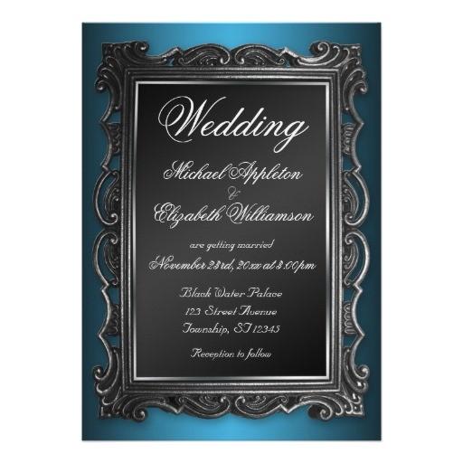 gothic wedding invitations templates