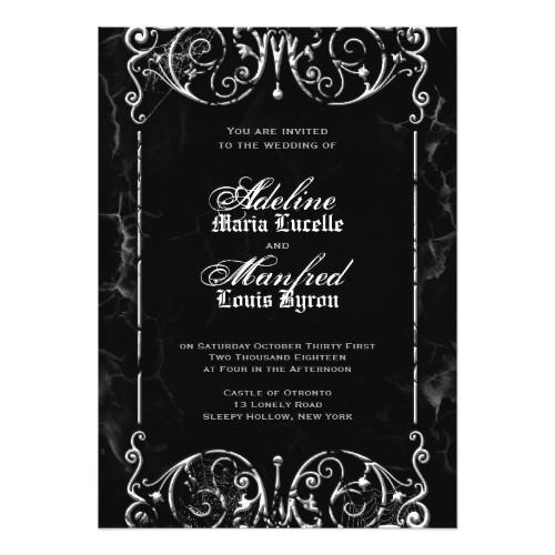 gothic wedding invitation templates