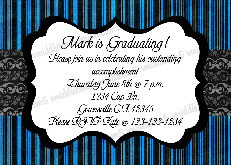blue graduation birthday party
