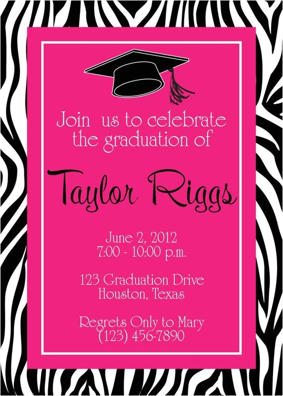 graduation zebra hot pink party