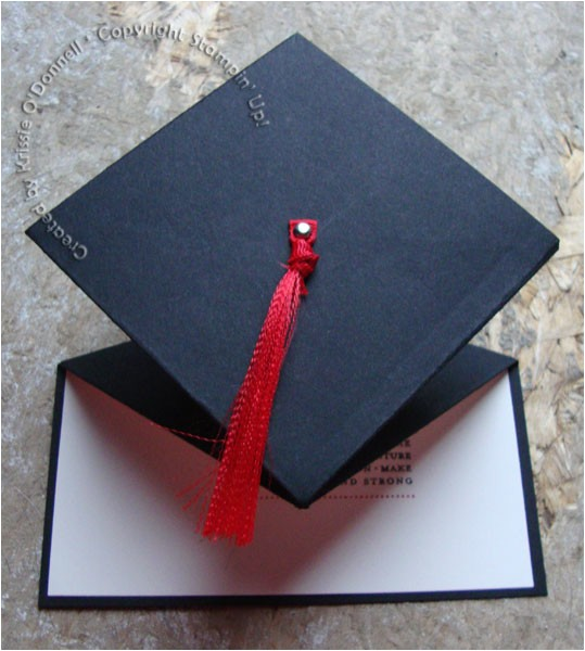 graduation cap spring card