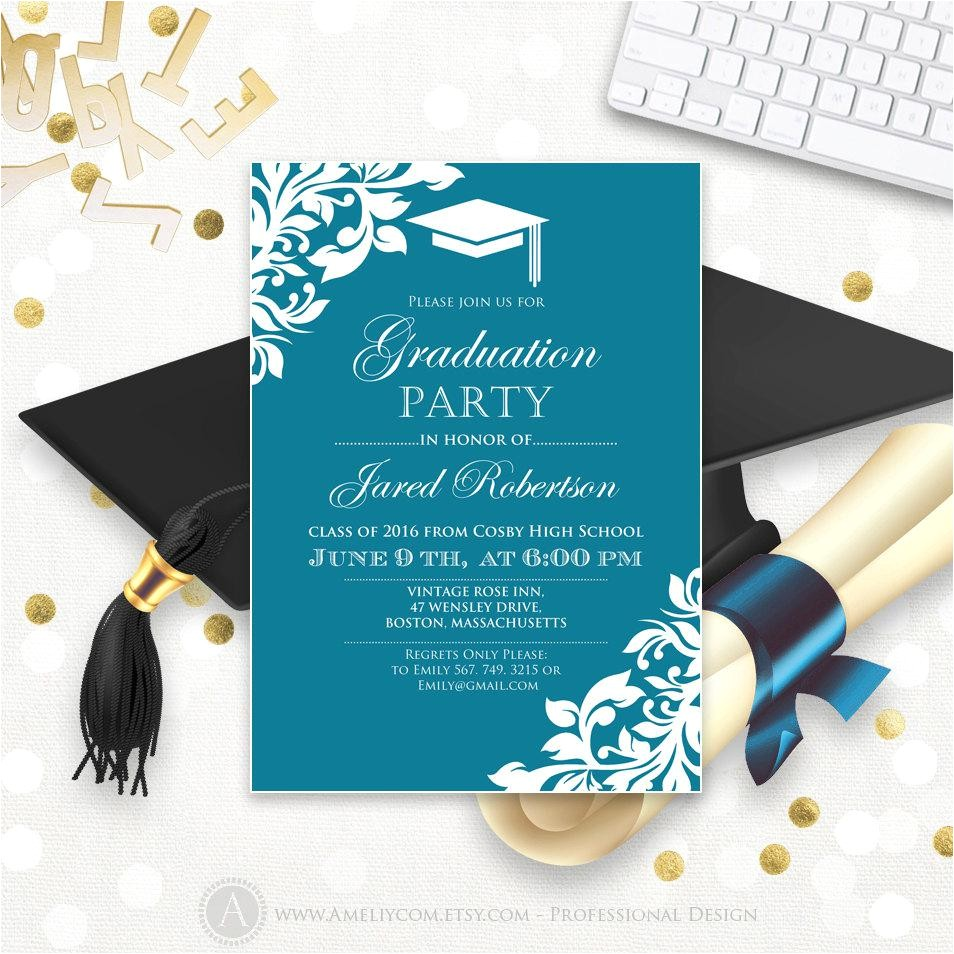 graduation invitation cards templates 3