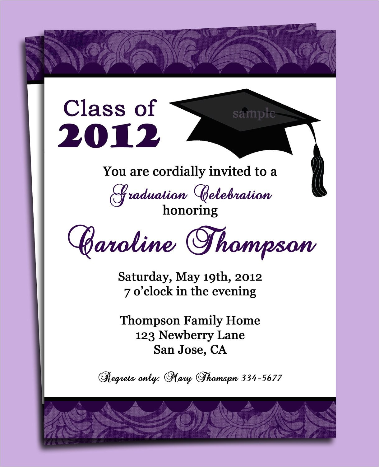 Graduation E Invitations Graduation Party or Announcement Invitation Printable or