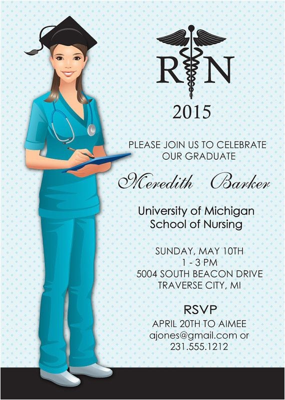 nurse graduation announcements invitations