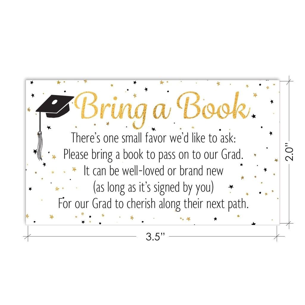 books for grad request cards graduation party invitation inserts