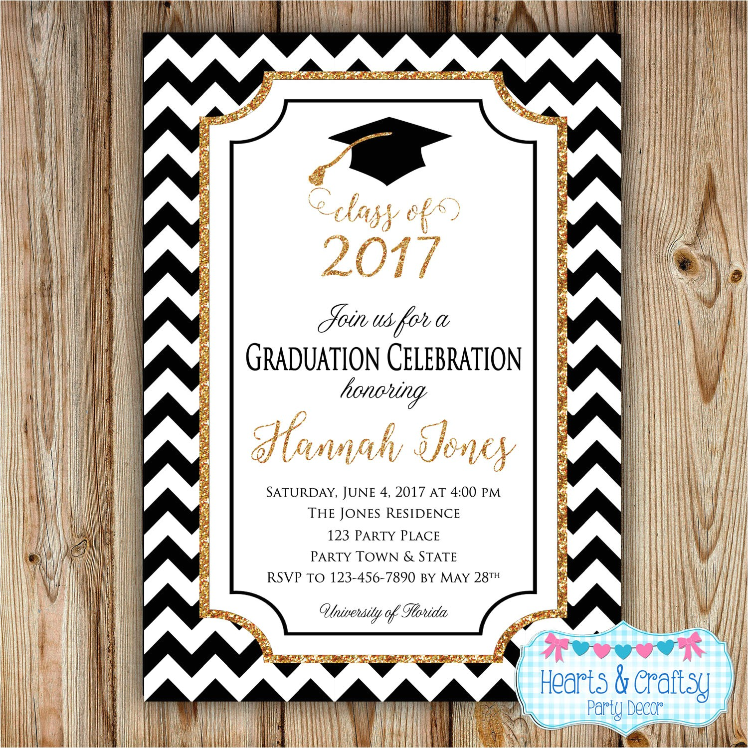 graduation inserts inviting to party