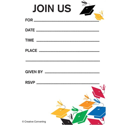 graduation toss invitation insert cards bulk