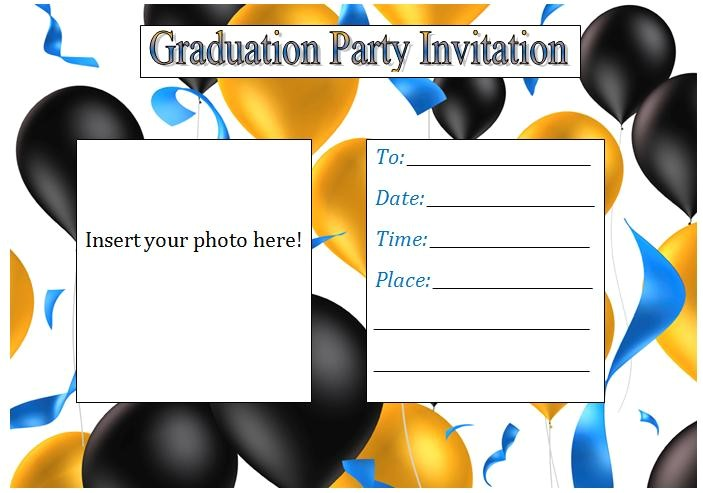 printable graduation party invitations template best templ