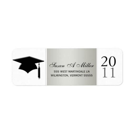 graduation return address labels class of 2011 106557749338207966