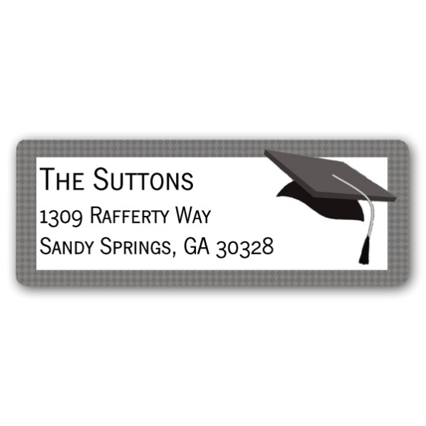 graduation walk return address labels p 614 rl 1229