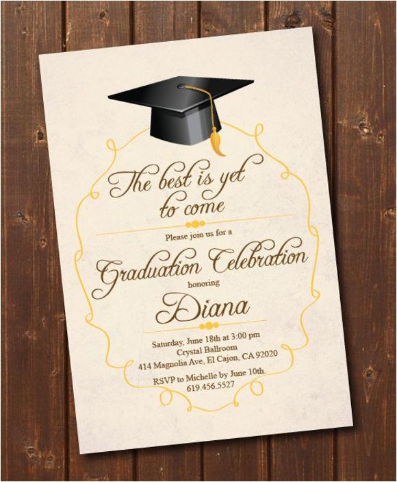 Graduation Invitation Card Sample 76 Invitation Card Example Free Sample Example format
