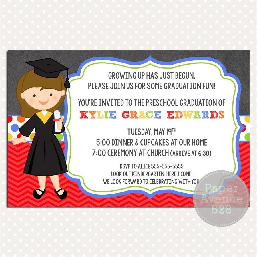 girls graduation invitations chalkboard