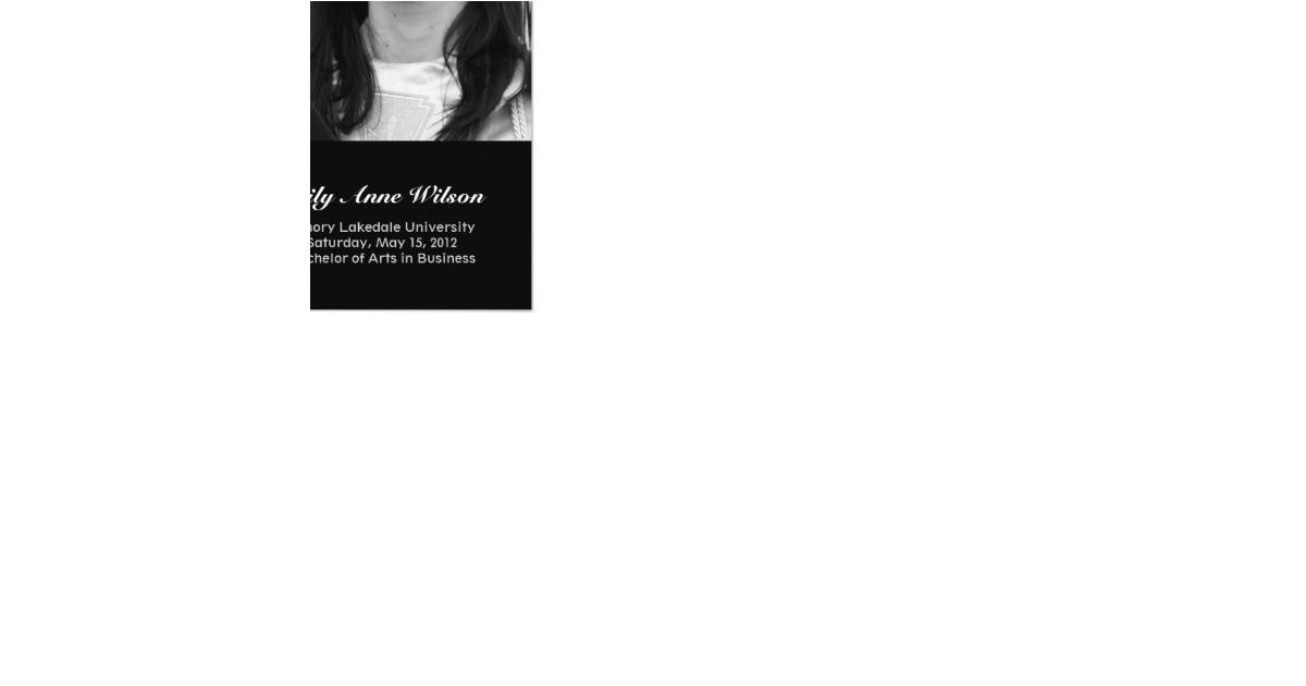 graduation announcement invitation photo insert 161578569816362701