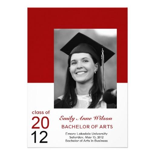graduation announcement photo insert invitations 161943063937686429