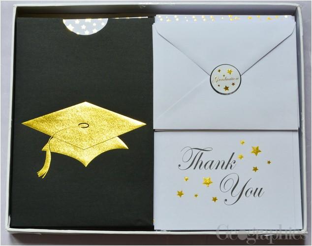Graduation Invitation Kits Graduation Cap Deluxe Invitation Kit Gold Foil Set 24 49666