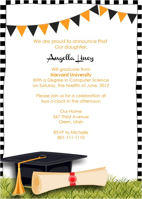 free graduation party invitation templates ideas print