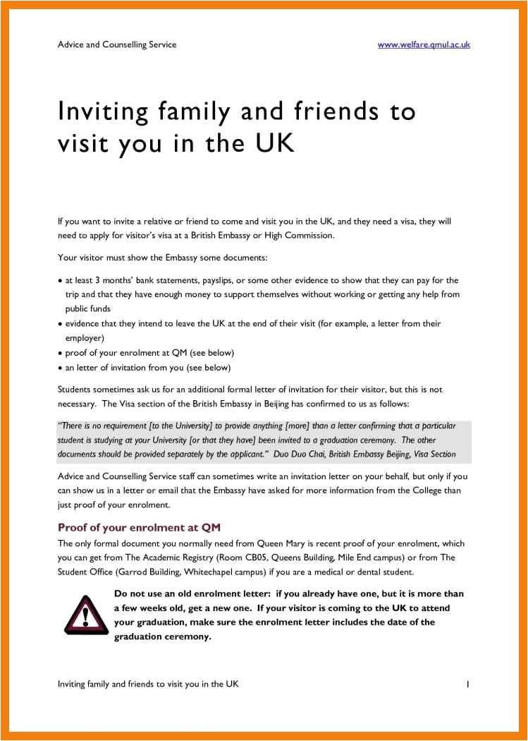 invitation letter visa for friends