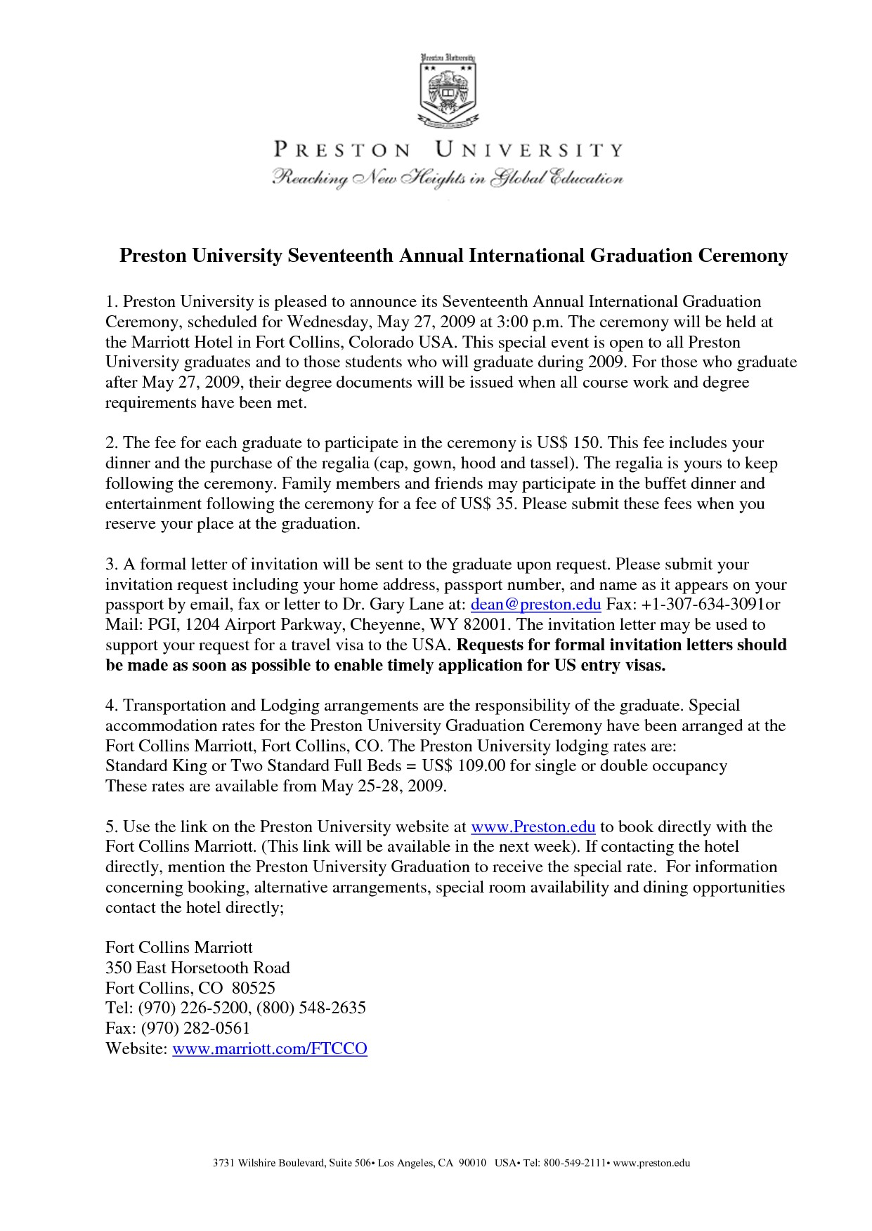 Graduation Invitation Letter for Parents Graduation Invitation Examples
