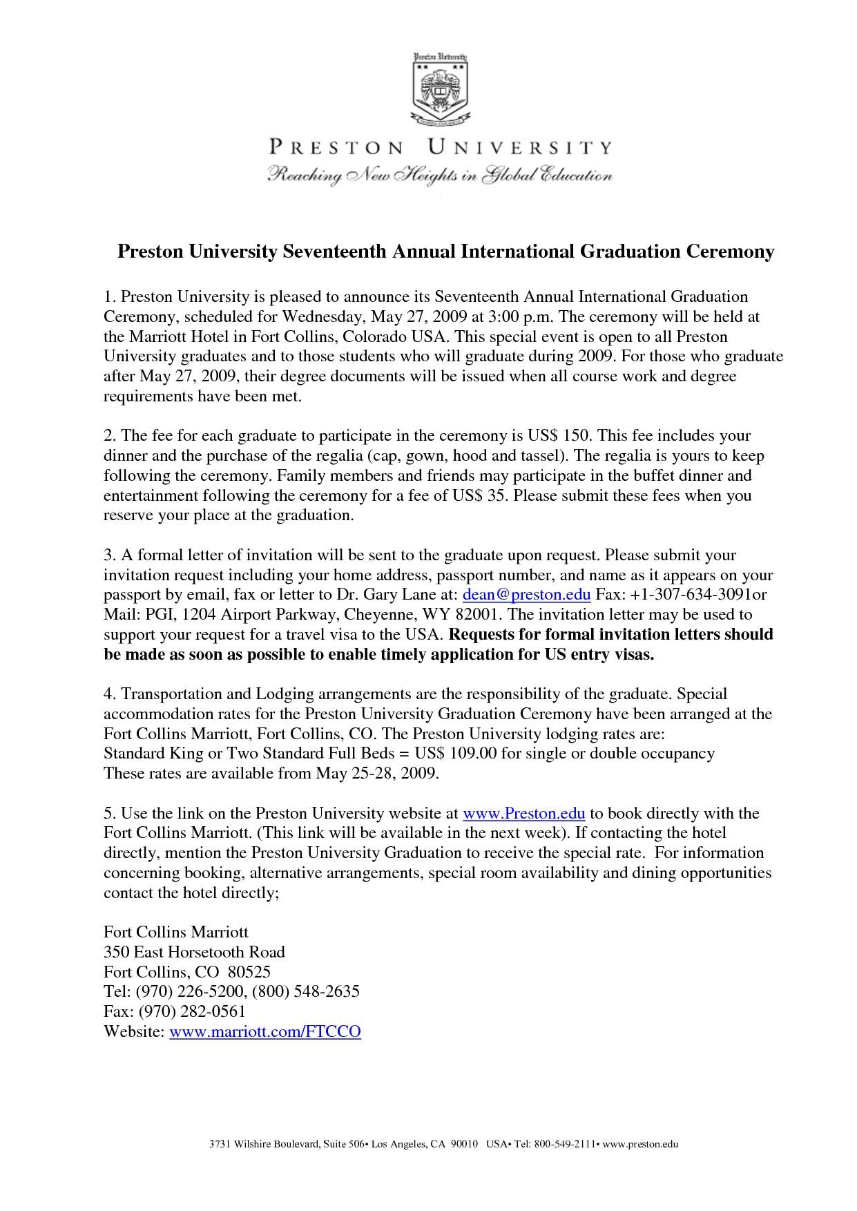 graduation invitation examples