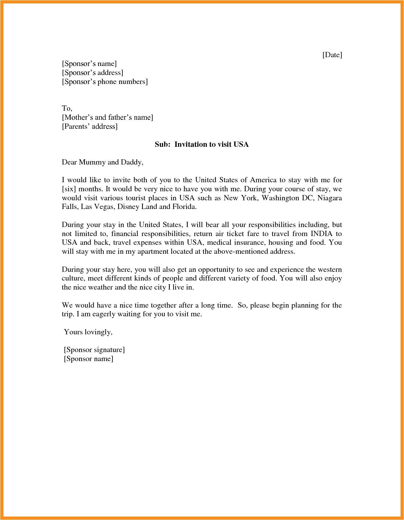 graduation invitation letter for parents visa premium invi