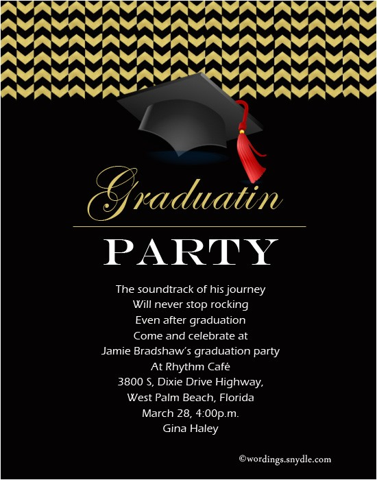 graduation party invitation wording mh comments