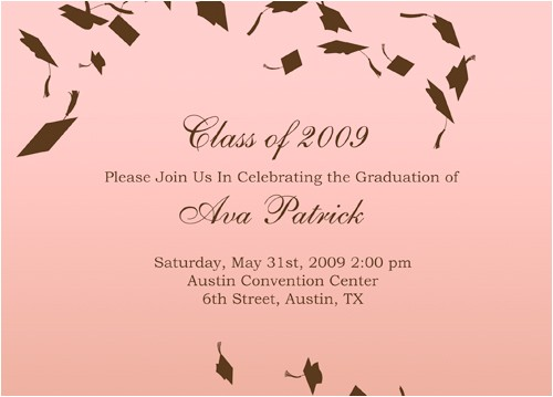 graduation invitation wording for